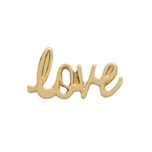 CH9044 Gold Script Love Charm copy
